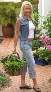 Brigitte in garden